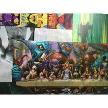 One Punch Man Vintage Art Silk Fabric Poster  13×20 24×36 inch