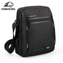 Kingsons Famous Brand Men Bag Casual Business Mens Messenger Bags Vintage Men's Crossbody Bag Bolsas Male Shoulder Bags цена