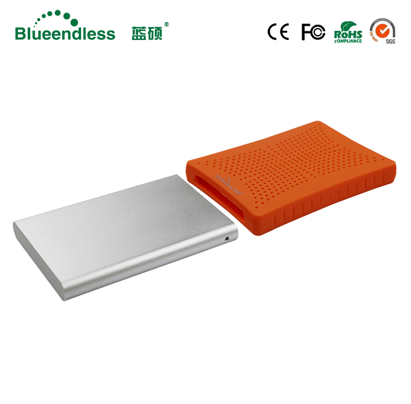 High Speed 5GBPS Blue/Orange HDD SSD Case with 320G Capacity Hard Disk 2.5 SATA USB 3.0 with Rubber Anti shock Case Aluminum HDD 5gbps tranmitt speed 2 5 hdd sata usb 3 0 case with 256g ssd hard disk inside 256 ssd hard disk is included with locking
