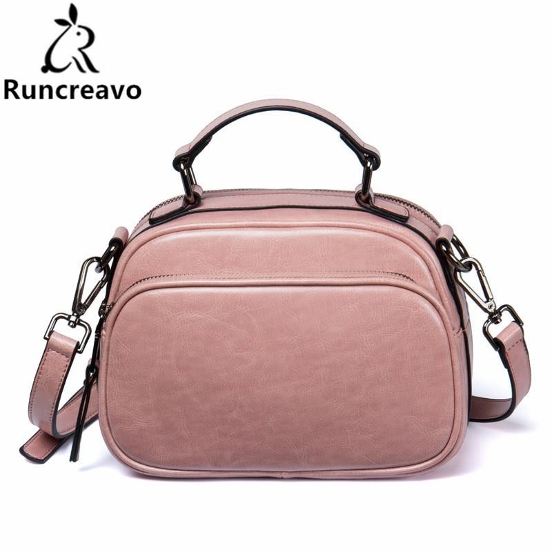 2018 New Arrival Oil wax Genuine Leather Women Handbags Fashion Crossbody Bags Female Handbag Trend Bag Bolsas. new arrival leather handbags women fashion phone bag female storage wallets