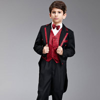 Kids Children Boys Formal Wedding Piano Performance Tuxedo Suits boy Blazer Mariages Dress Costume Enfants Garcon Blazers F55