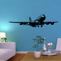 Free Shipping Wall Stickers Wholesale And Retail Wall Decor PVC Material Decals Wallpaper Animal Stickers Plane