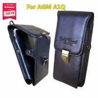 Men Genuine Leather Belt Loop Phone Pouch Holster Retro Cell Phone Case Waist Bag For AGM