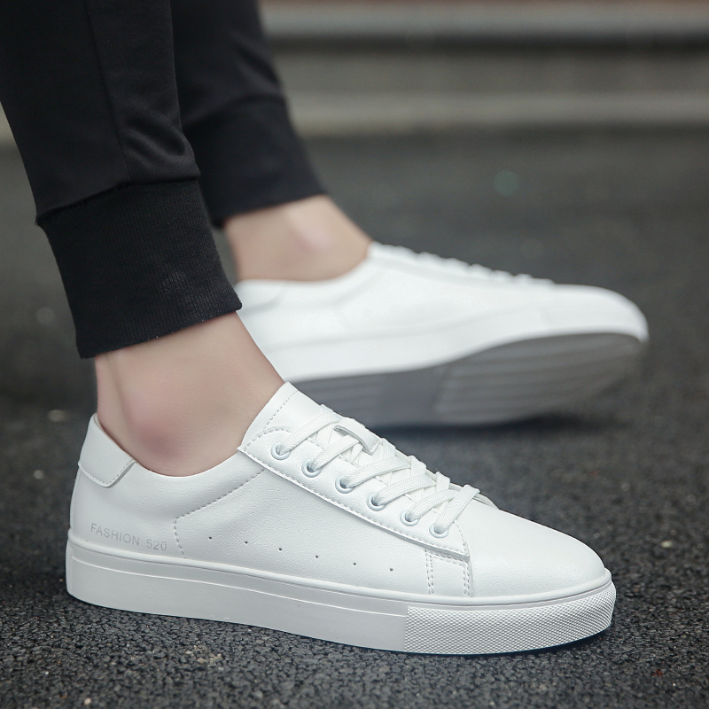 New high qualit genuine leather plate shoes men's summer shoes men's high quality white shoes men 6