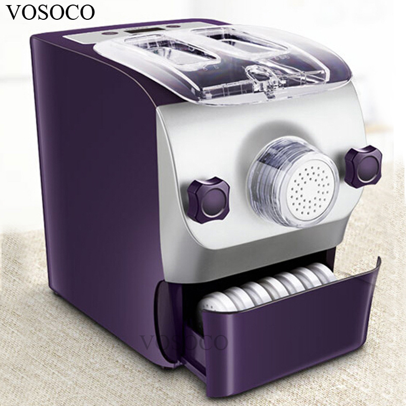 VOSOCO Noodle machine full automatic dumpling skin kneading machine 200W small electric noodle pressing machine noodle maker noodle maker noodle machine household full automatic electric dumpling skin maker multifunctional small dough blender processor