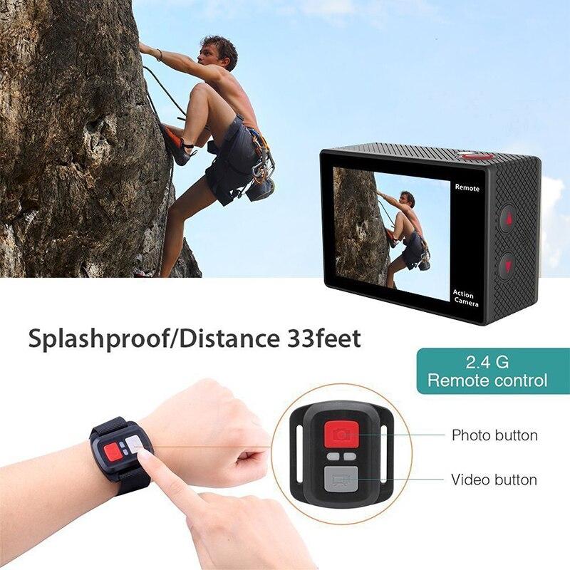EKEN H9 H9R Ultra FHD 4 K 25FPS Wifi caméra d'action 30 M étanche 1080 p 60fps sous-marine aller À Distance extrême pro caméra de sport - 6