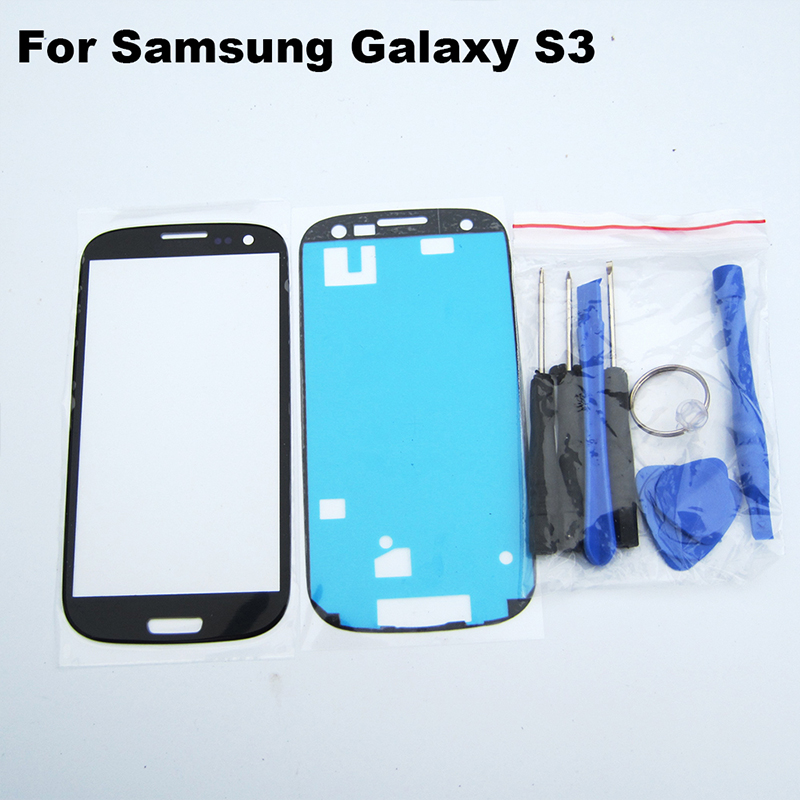 RYWILL Outer glass for samsung S3 i9300 i9305 lcd touch screen digitizer front glass lens & tools & adhesive White/Black/Blue