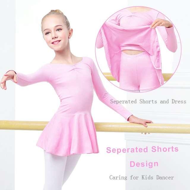 48ccb2462 Online Shop Girls Toddler Cotton Ballet Clothes Dance Wear Cute ...