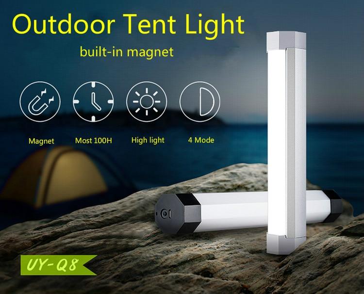 Multifunctional Magnet LED Emergency Light Flashlight 5 Modes Outdoor Lamp Mini Lantern Camping Light Portable Tube Rechargeable