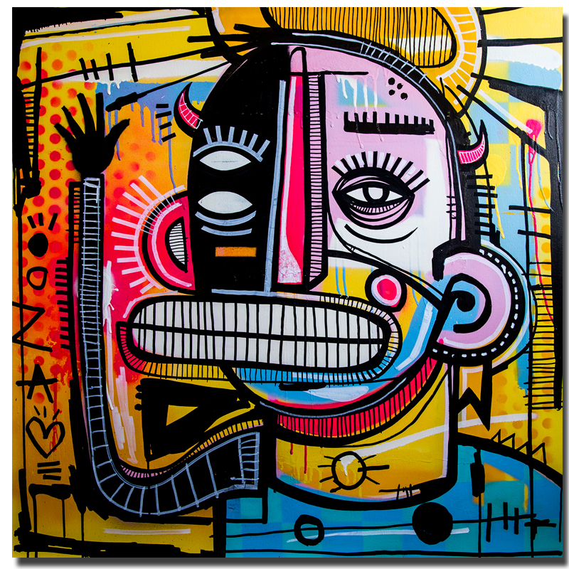 Graffiti Street Art Joachim Abstract Colorful Painting