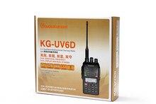 Walkie Talkies 5W Radio KG-UV6D LUXURY VERSION (136-174/400-480MHZ) with 1700MAH Battery From WOUXUN
