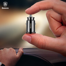 Baseus Mini USB Car Charger For Mobile Phone Tablet GPS 3.1A Fast Charger Car-Charger Dual USB Car Phone Charger Adapter in Car(China)