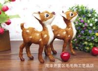 Simulation Animal 11x14cm Reindeer Sika Deer Toy One Lot 2 Pieces Toys Polyethylene Furs Resin Handicraft