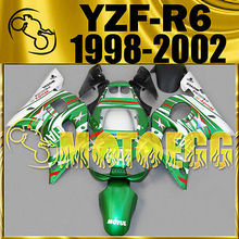 Motoegg Injection Fairings For YAMAHA 1998-2002 YZF-R6 YZF R6 Star Green #M47  Motorcycle plastic