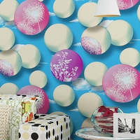 3d Non Woven Wallpaper Warm Dandelion Circle Bedroom Living Room Sofa TV Background Wallpaper