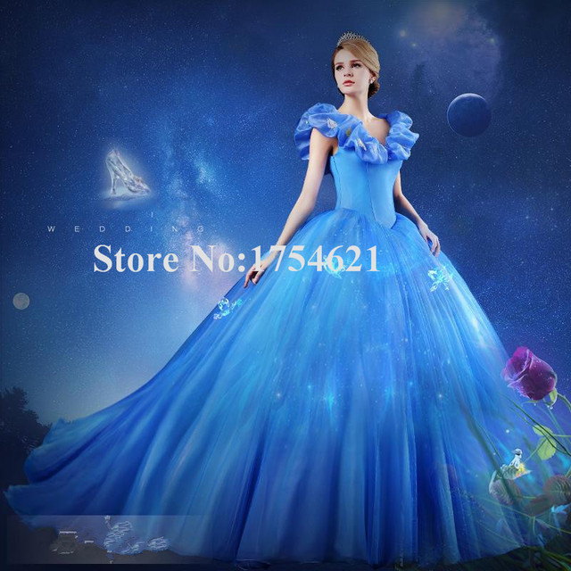 cec74aa6f51 cinderella quinceanera dresses vestidos para 15 anos debut ball gowns blue  beautiful for sweet girl dress ball gown custom made