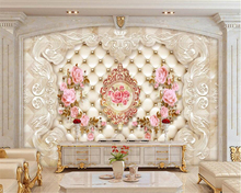 Custom Any size high quality 3D wallpaper roses European pattern embossed backdrop wall mural murals paper beibehang