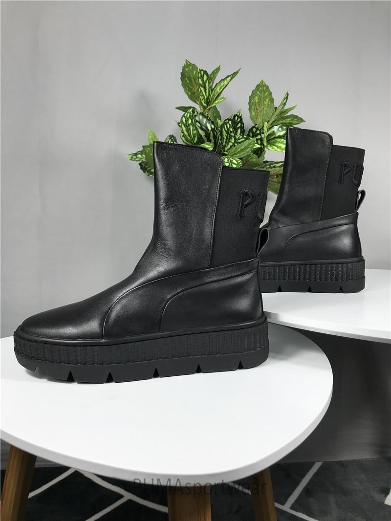 finest selection c4a44 5f727 Original PUMA Rihanna x Puma Fenty Chelsea Sneaker Boot Women's Sneakers  Bow Badminton Shoes Size35-39