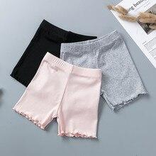 100% bawełna dziewczyny spodnie ochronne Top Quality dzieci krótkie spodnie bielizna dzieci lato śliczne spodenki kalesony dla 3 11 lat