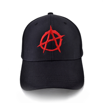men women Print Casual Baseball Cap Men Brand Anarchy Symbol hat - Punk Rock hats Bedlam Evil Anarchist War Rocker