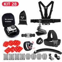 Selfie Stick For GoPro hero7/6/5/4/3+ Action Sports Camera Accessries Kit Chest Strap Tripod For SJCAM Xiaomi yi 4k Camera
