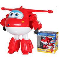 Grand!!! Super ailes Jet déformation avion Robot figurines Super aile Transformation jouets pour enfants cadeau Brinquedos