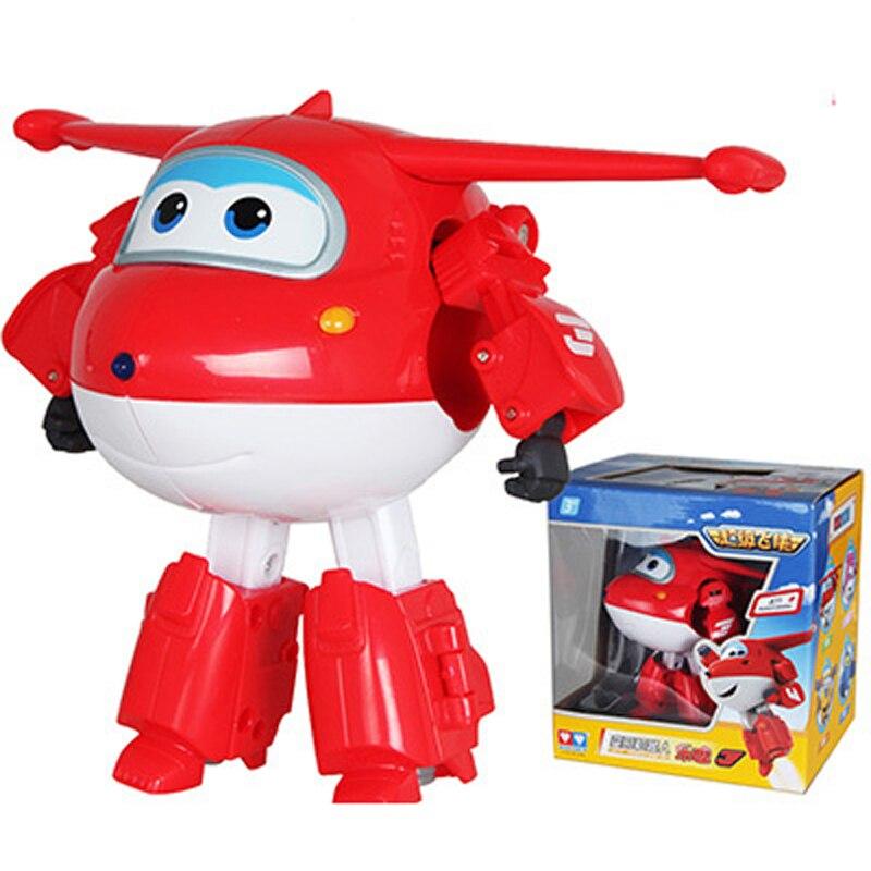 Grande!!!! Super asas jet deformação avião robô figuras de ação super asa transformação brinquedos para crianças presente brinquedos