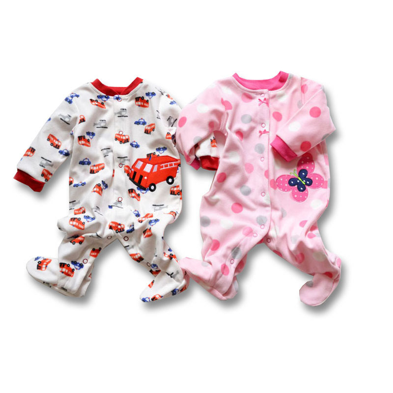 High quality Baby romper hot sale brand bebe boy and gril jumpsuit infant clothing long sleeve fleece newborn baby clothes