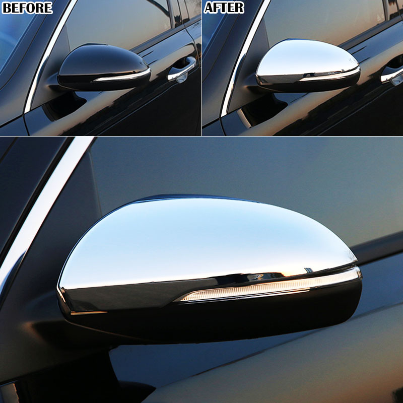 For Kia Optima K5 Jf 2019 2016 Chrome Side Mirror Rear View Cover Protector Trim Molding Bezel Cap Overlay Frame Accent In Covers From Automobiles