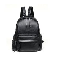 Для женщин Рюкзак Новая мода Повседневное из искусственной кожи женский рюкзак для подростков Обувь для девочек школьная сумка одноцветное рюкзак Mochilas