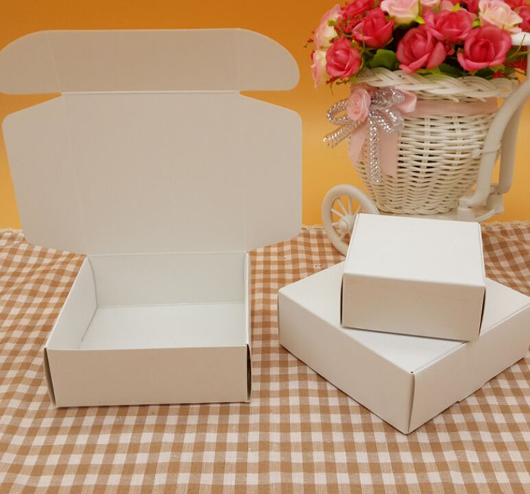 50pcs Black White Kraft Paper Candy Carton Boxsmall Cardboard Packaging BoxCraft Gift Handmade Soap Box In Bags Wrapping