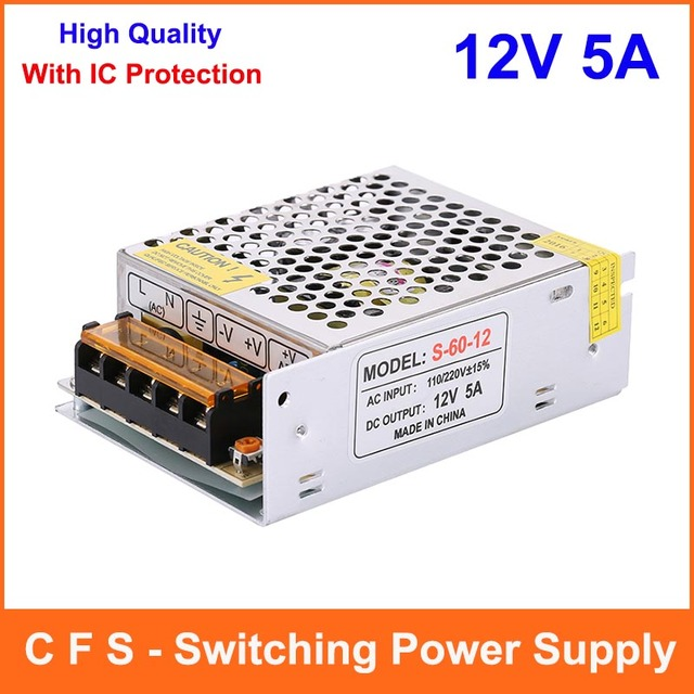 60w 12v 5a small volume single output switching power supply led60w 12v 5a small volume single output switching power supply led driver for led strip light