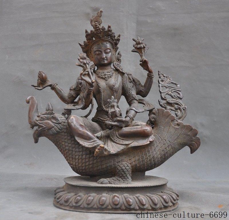 christmas Tibetan Buddhism Purple Bronze 4 Arms Kwan-yin Goddess Buddhas Sit Beast Statue halloweenchristmas Tibetan Buddhism Purple Bronze 4 Arms Kwan-yin Goddess Buddhas Sit Beast Statue halloween