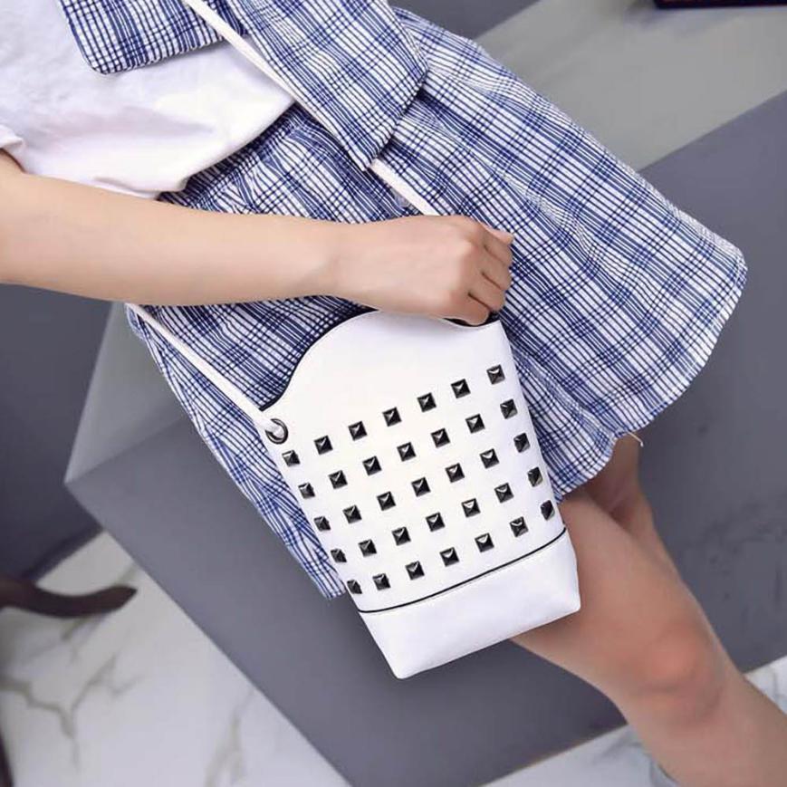 100% fashion high quality Women bag Fashion Women Messenger Bags Slim Rivet Crossbody Shoulder Bags Handbag Free shipping Y31 women messenger bags 2015 100% crossbody women bag