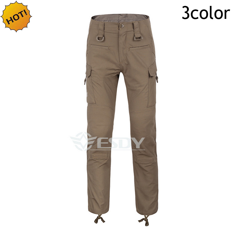 ESDY Indoor 2017 Men Combat Trousers Multi-Pocket Slim Fit Tactical Mens Quick-drying TAD Military Commando Soldiers Pants 28-38