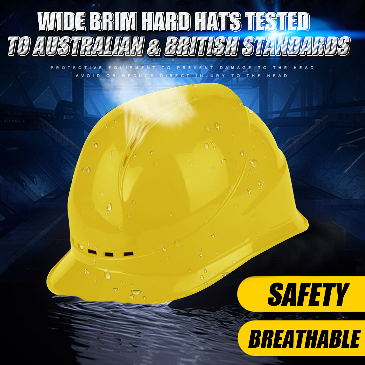 White Yellow Safety Hard Hats Construction Work Protective Helmets ABS  Protect Rescue Helmets Safety Supplies-in Safety Helmet from Security    Protection on ... 6add39c7895