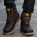 Otoño Invierno Hombre Botas de Cuero Genuino Botas Los Hombres Zapatos de Invierno Militar de Piel Para Los Hombres Zapatos Hombre 2016