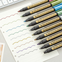 10 Pcs Lot Metallic Color Pen For Opaque Writing And Decorating Scrapbooking Water Based Ink School
