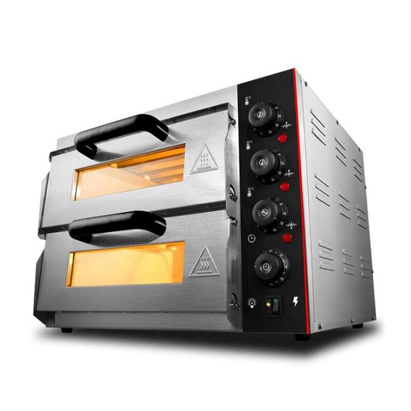 Double couche électrique grande Pizza cuisson four Commercial multifonction rôtissoire gâteau poulet gril faisant la Machine WL002