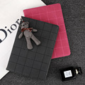 Tablet case Стенд Кожа PU для ipad air 1/air 2 ipad 5/6 с Медведем Кулон Защитная Крышка для ipad 234/ipad mini 123/mini 4
