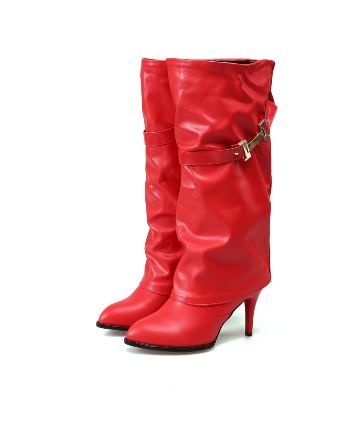 2017 Big Size 34-45 Hot Sale New Brand Fashion Women Riding Boots Leather Wedges Shoes Woman Autumn Winter Knee High Boots T737 new women dress shoes knee high boots woman round toe high heels autumn winter long boot hot fashion riding boots big size 35 43