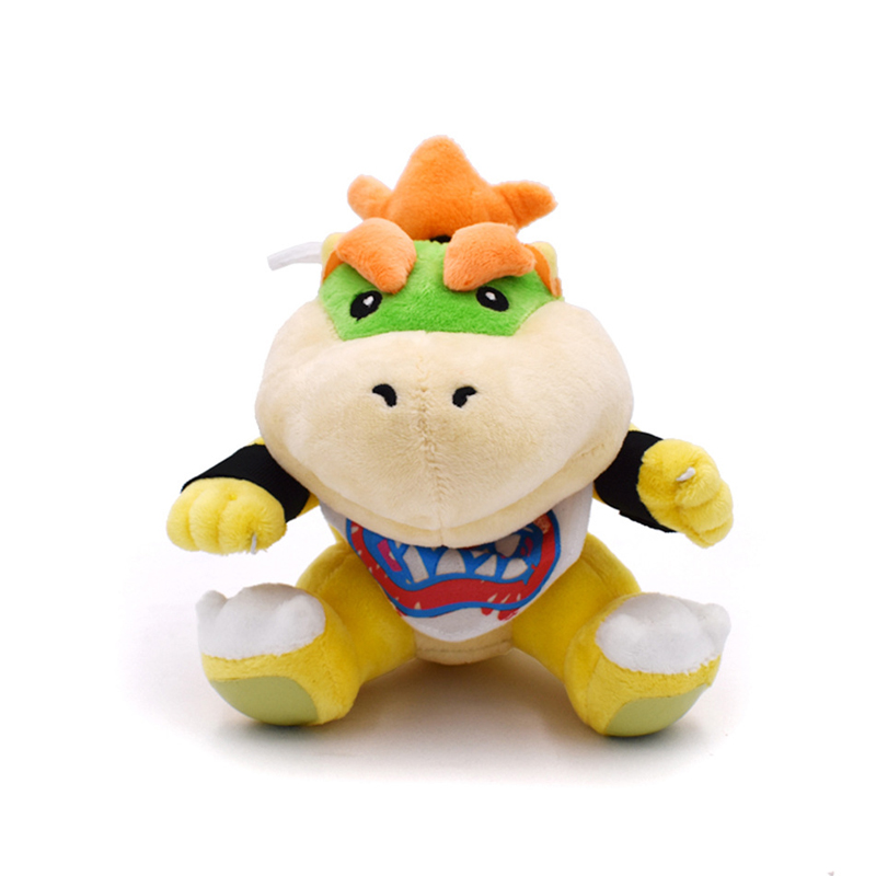 18cm Super Mario Bros Koopa Bowser JR Plush Toys Doll Baby Bowser Koopa Plush Soft Stuffed Toys for Children Kids Gifts ocean creatures plush crab cushion doll cute stuffed simulative toys for baby kids birthdays gifts 27 23cm 10 5 9