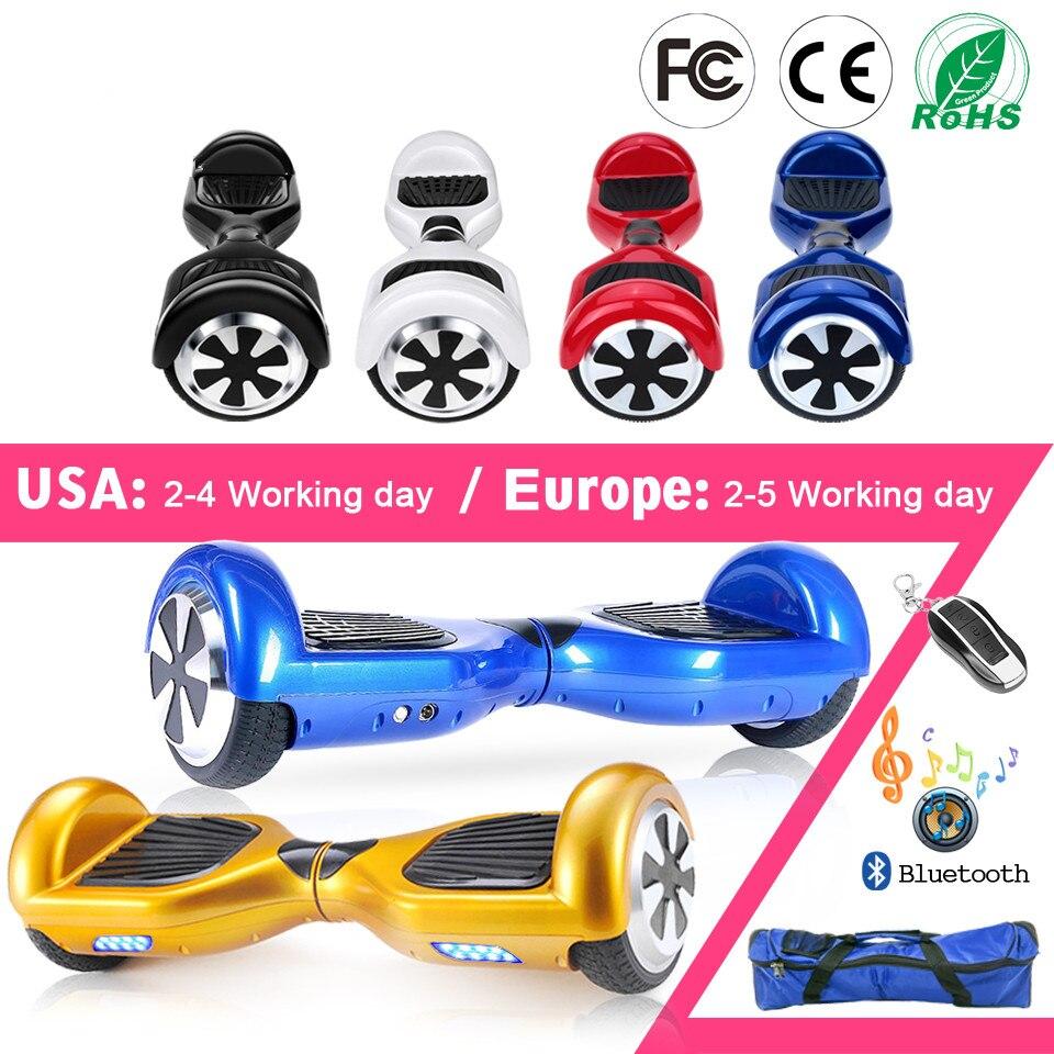 Hover board 6,5 Дюймов Электрический скейтборд умный самобалансирующийся самокат 2 колесный Гувер увеличенный прогулочный автомобиль Одноколесн