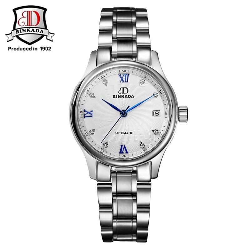 ФОТО 2017 BINKADA Women's Watch Newest Design Watches Lady Top Quality Watch Factory Shop Fashion Wristwatch Sapphire Crystal Watch