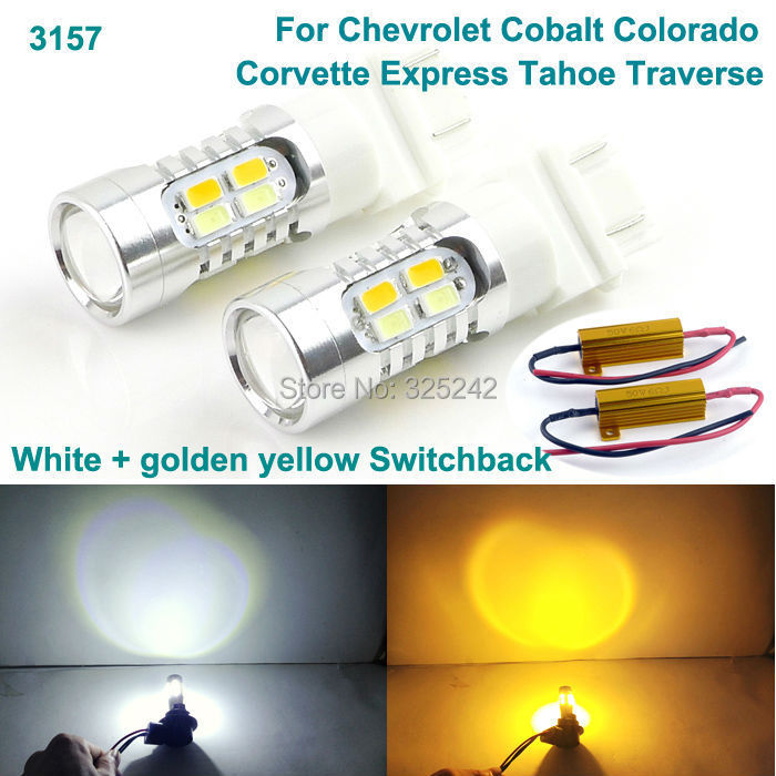 For Chevrolet Cobalt Colorado Corvette Express Tahoe Excellent 3157 Dual-Color LED DRL Parking+front Turn Signal light ce wireelss restaurant waiter calling system 30 table call button and 4 watch pager y 650 433mhz free shipping
