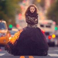 Перья аппликации бальное платье для свадьбы шику бисером с кружевом и v образным сплошной цвет черный цветочница платье горячая распродажа