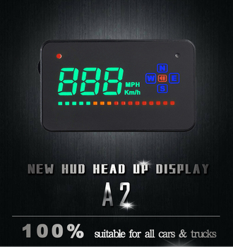 Car HUD Compatible All Car Speed Projector GPS Digital Car Speedometer A2 Electronics Head Up Display Windshield Projector