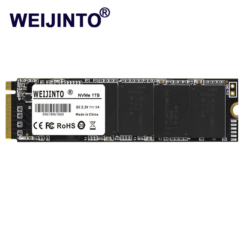 WEIJINTO M.2 SSD PCIe NVMe 1TB SSD hard Drive ssd m.2 pcie M.2 2280 SSD Internal Solid State Hard Disk Disc For PC MSI Notebook