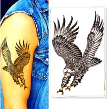 Airforce Eagle Hawk Army Man Style Temporary Body Art Flash Tattoo Stickers, 17*10cm Waterproof Henna Tatoo Summer Adult Product
