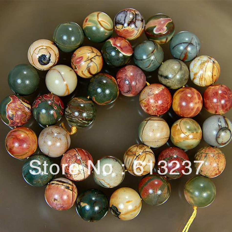 Charming Natural Stone Picasso round 4mm 6mm 8mm 10mm 12mm 14mm beautiful Loose Beads diy jewelry making 15 inch MY139